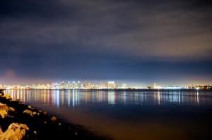 night life cityscape - san diego, california