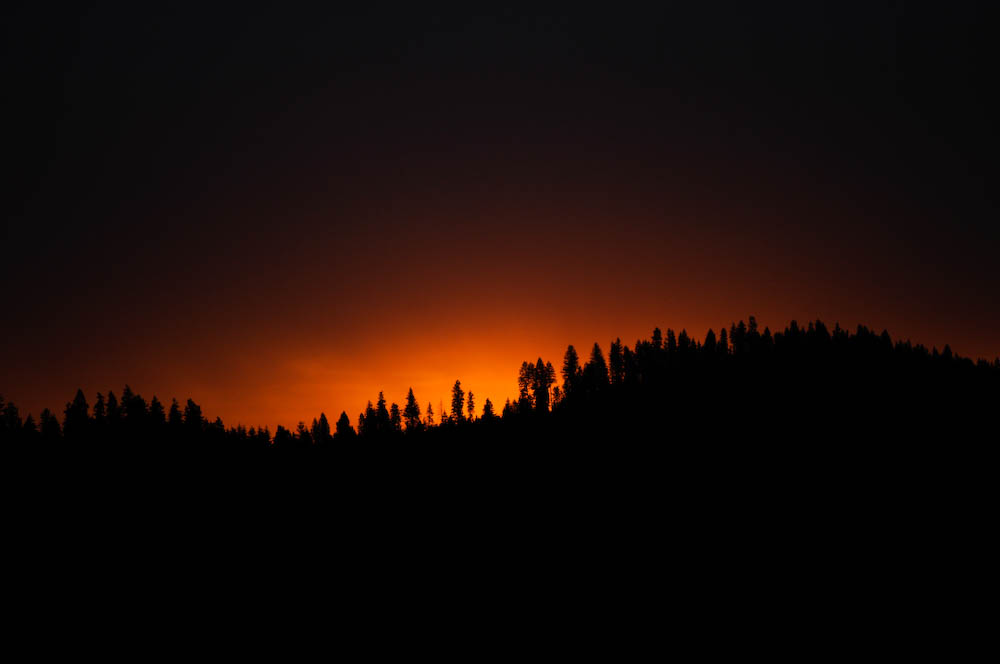 Sunrise during a fire storm
