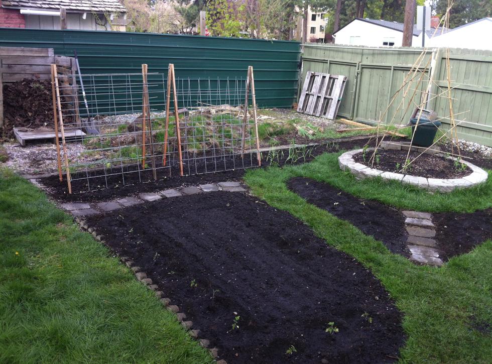 Useless yard into a garden…