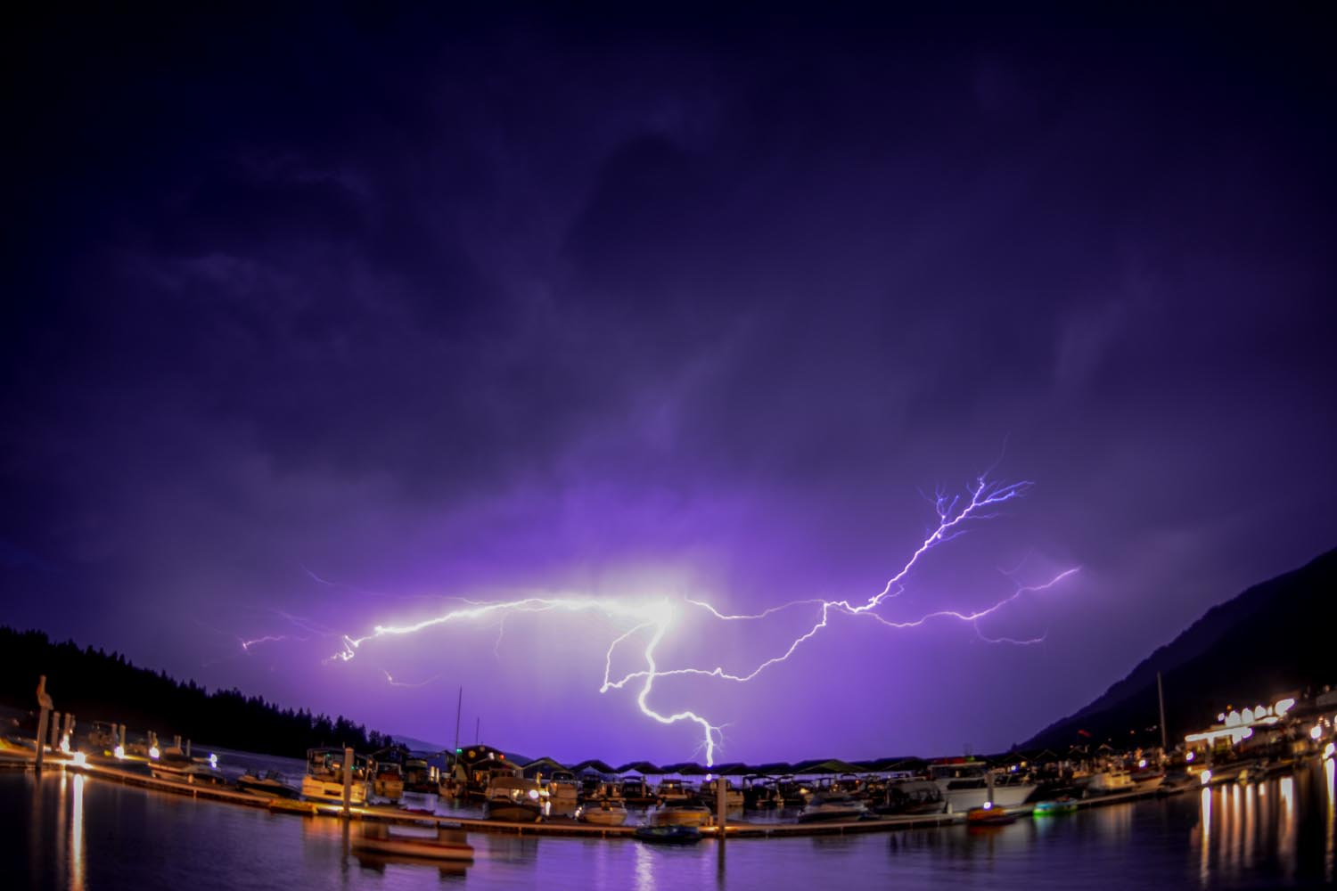 Lightning over Pend Oreille Lake